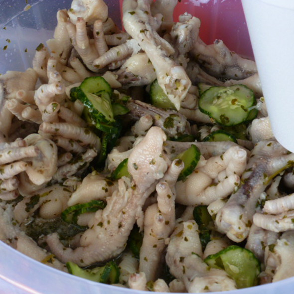 Halaal Chicken Foot Souse @ Side of the Road