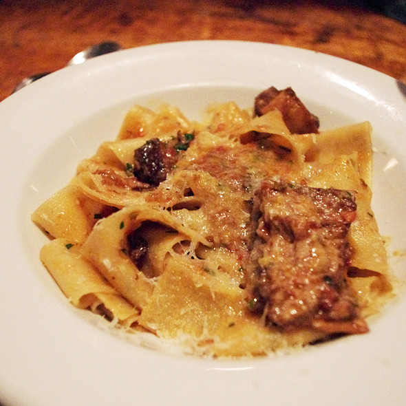 house made pappardelle, lamb ragu @ Enoteca Sociale