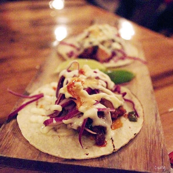 Spicy Pork Neck Tacos @ Swish by Han