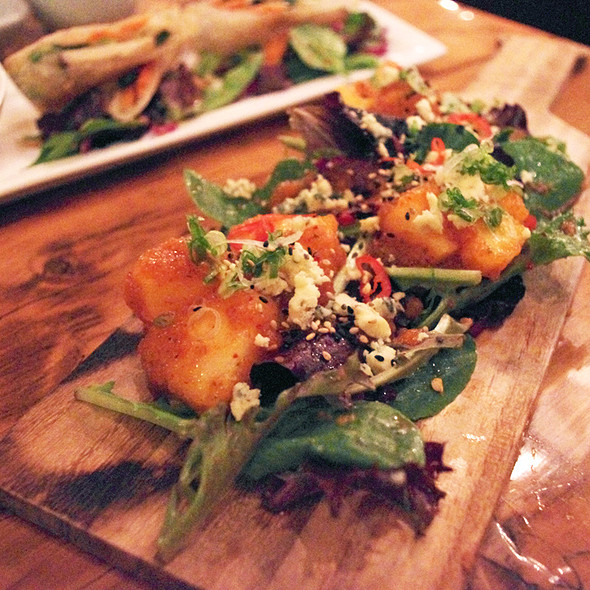 """Kimchi""ed pears with stilton cheese  @ Swish by Han"