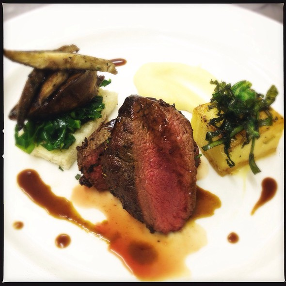 Venison Loin, Parnsnip Pure, Chicken Liver, Fondant Potato And Juniper Sauce @ The Rosendale