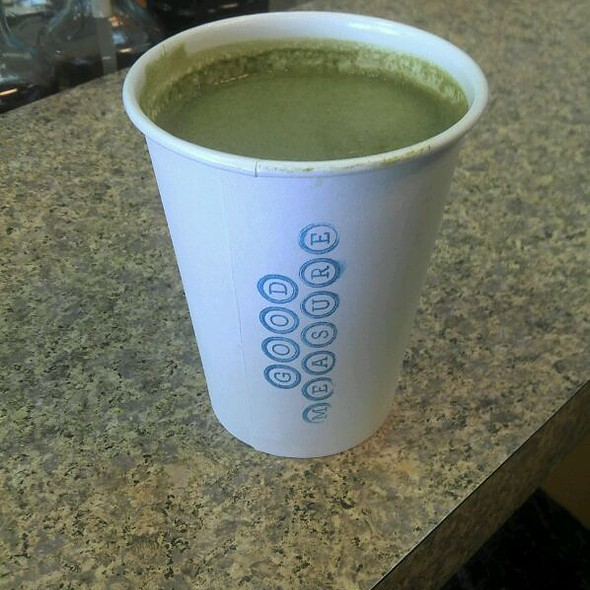 Green Tea Latte @ Good Measure