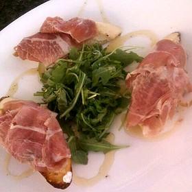 Bruschetta with Prosciutto, Arugula & Honey - Bon Appetit, Dunedin, FL