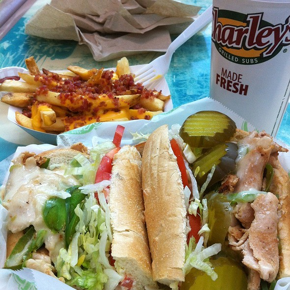 Philly Chicken Cheesesteak With Gourmet Fries Combo @ Charley's Grilled Subs Park Place Mall Tucson Az
