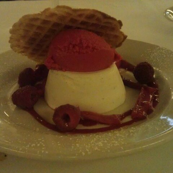 Panna Cotta With Raspberry Sorbet