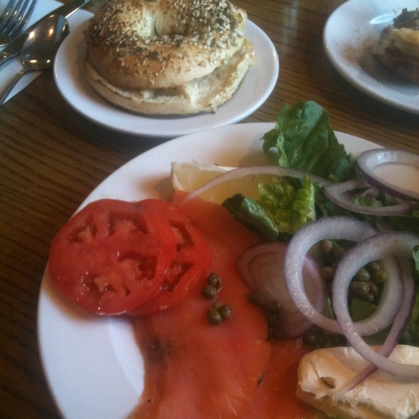 Lox, Eggs & Onions @ Main Street Bakery & Cafe