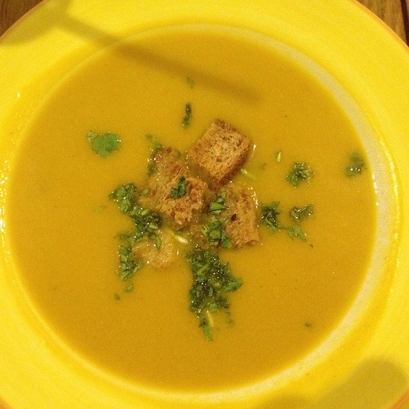 Pumpkin Soup With Almond Milk And Coconut @ The Garden