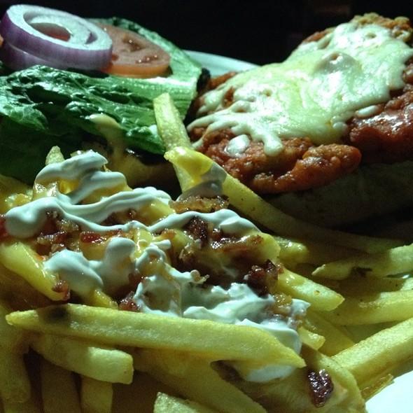 Buffalo Sandwich With Baked Potato Fries @ Saint Dane's Bar & Grille