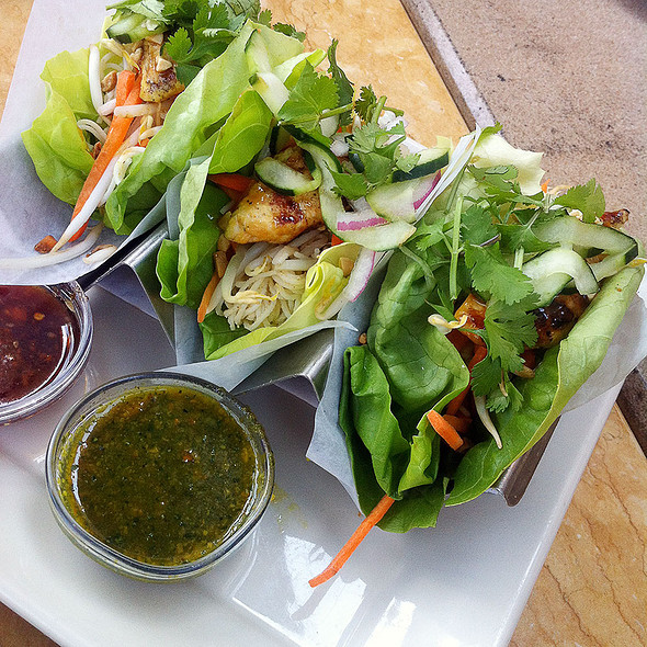 Asian lettuce wrap tacos @ Cheesecake Factory
