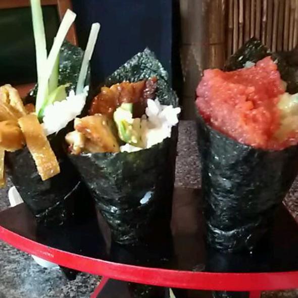 Inari Hand Roll, Spicy Tuna Hand Roll , Unagi Hand Roll @ Momo's Sushi
