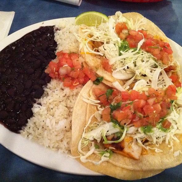 Cajun Fish & Shrimp Soft Taco @ Wahoo's Fish Taco
