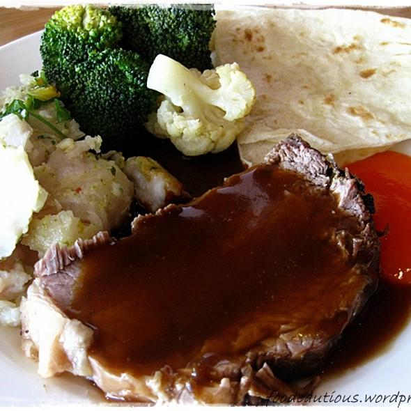 Beef Roast, Vegetables, Battered Fish @ Kitchen Workshop