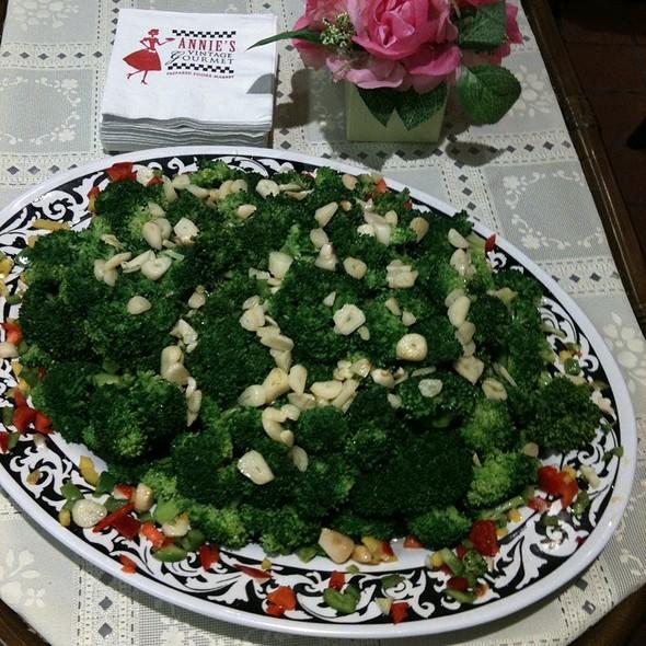 Sauteed broccoli  @ Annie's Vintage Gourmet Market