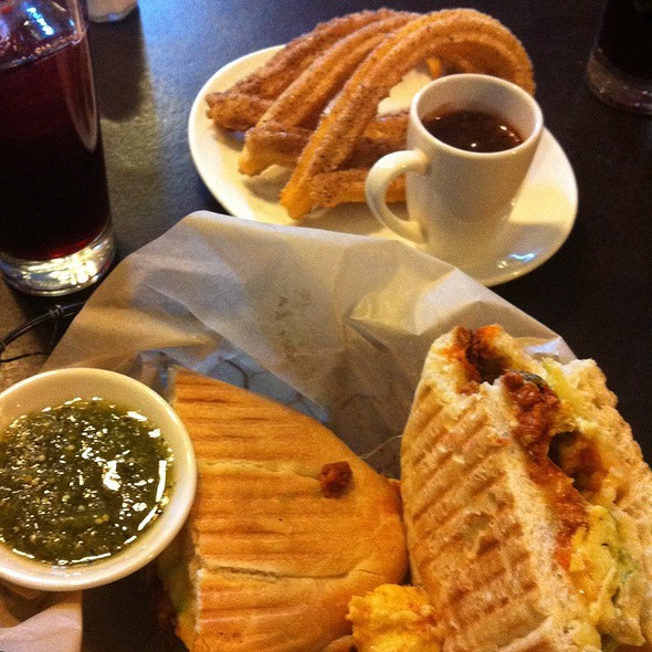 Chorizo Egg Torta And Churros Con Chocolate @ Xoco
