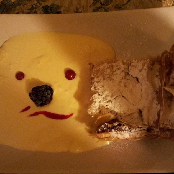 Apple Crunch Pie With Vanilla Sauce @ Camino