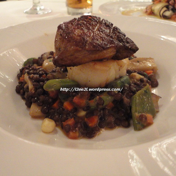 Pan-Fried Scallops and Foie Gras of Duck