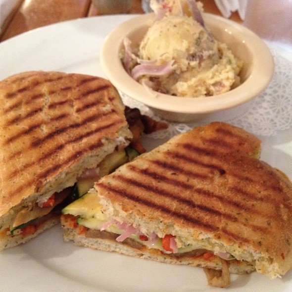 Grilled Vegetable Focaccia Sandwich @ Soho South Cafe
