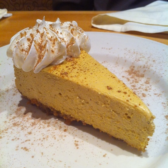 Pumpkin Cheesecake - Polaris Grill, Columbus, OH