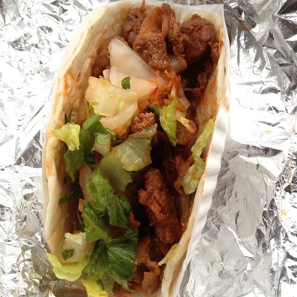 Kimchi Pork Tacos @ Seoul Food