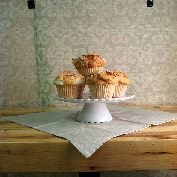 Angel Food Cupcake with Egg White Icing @ Foodease