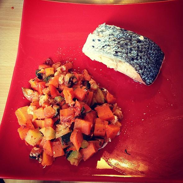 saumon tandoori aux petits légumes @ Chez Pépita et Titou