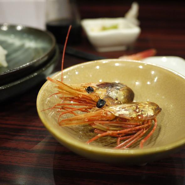 烤甜蝦頭 @ 鮭鮮人壽司本舖