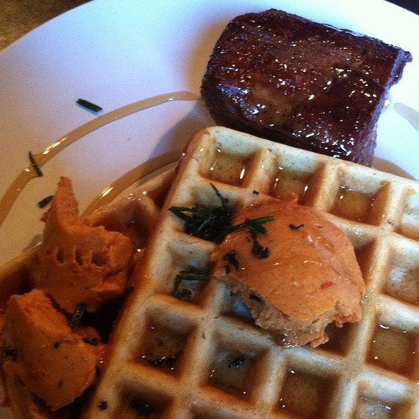 Herbed Waffles With Pork Belly @ Mikro Beer Bar