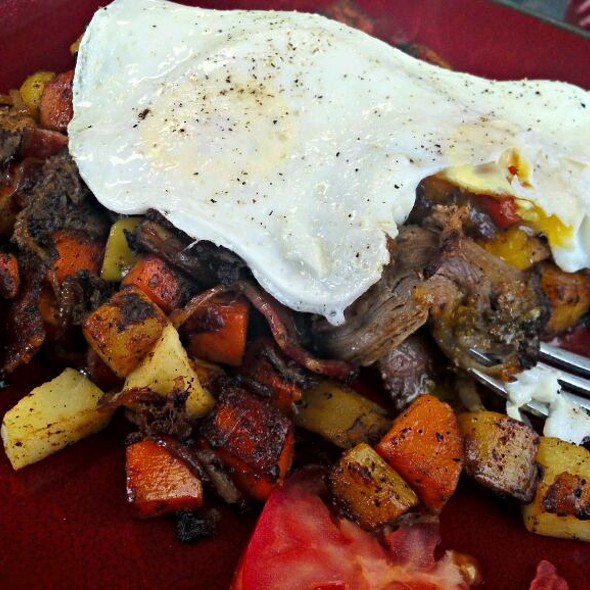 Pulled Pork And Sweet Potato Hash @ Sugar Mamas Coffee Cafe