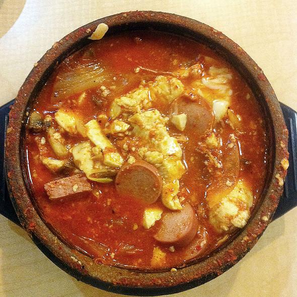 Kimchee sausage soft tofu stew @ Convoy Tofu House