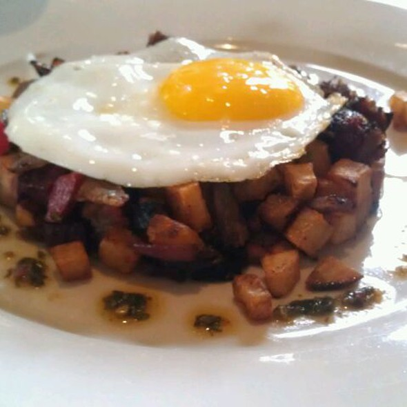 Grilled corned beef hash @ Farmstead at Long Meadow Ranch