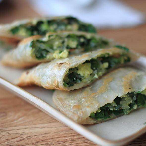 Green Chive Pancakes @ Dumpling Empire