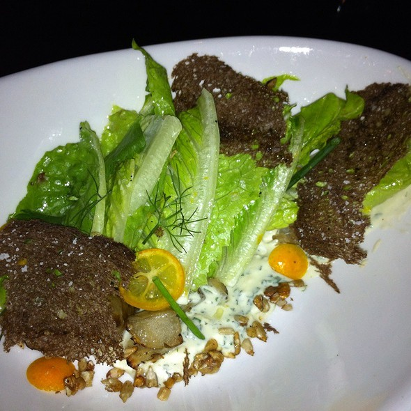 Roasted Sunchoke Romaine Salad @ Elate
