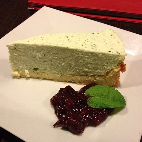 Basil Cheesecake With Plum Chutney @ Statenicky Mlyn, Statenice, Czech Republic