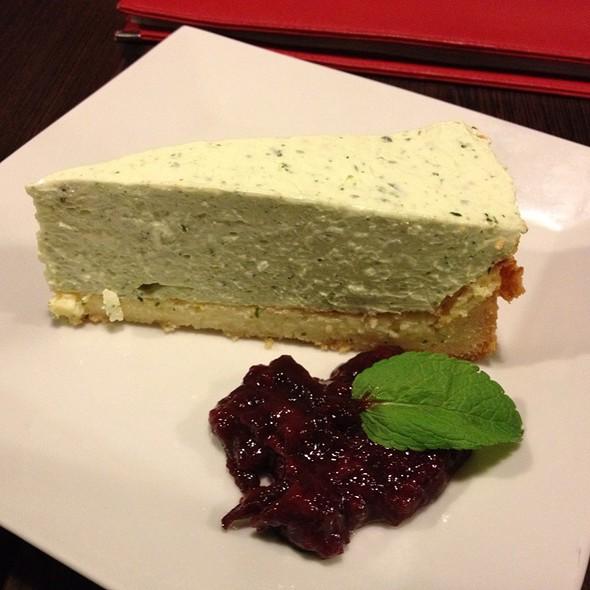 Basil Cheesecake With Plum Chutney @ Statenicky Mlyn, Statenice, Czech Republic