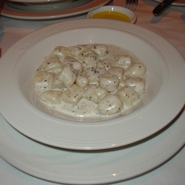 Gnocchi with Truffled Cream Sauce - Bacco Ristorante, San Francisco, CA