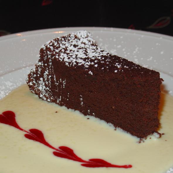 Chocolate Cake with Zabaglione Sauce - Bacco Ristorante, San Francisco, CA