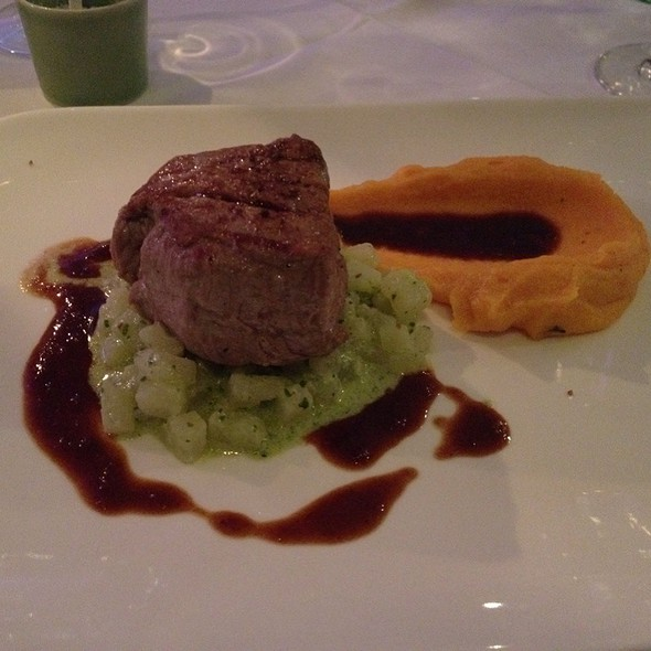 Veal With Mashed Sweet Potato And Stem Cabbage @ Basilicum