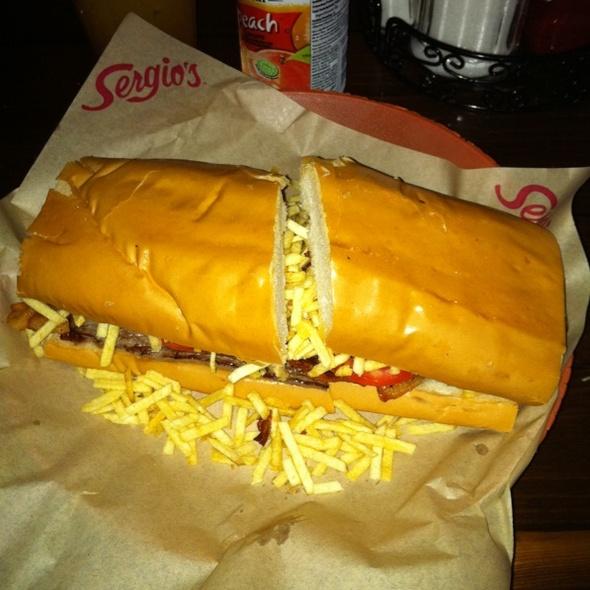Pan Con Bistec Sandwich  @ Sergios