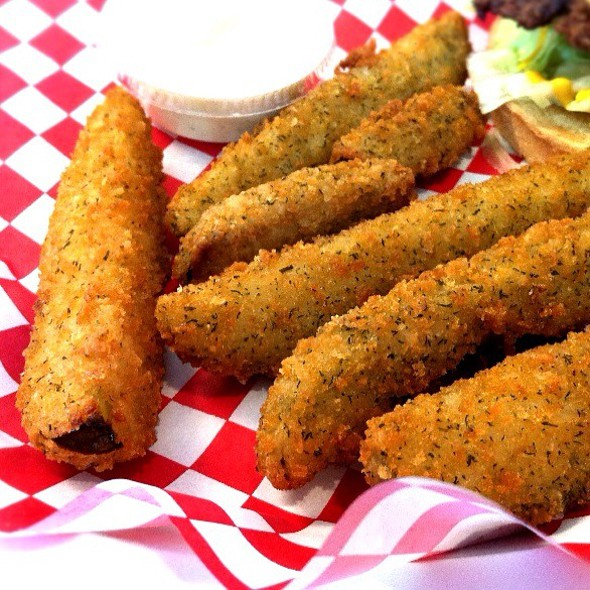Fried Pickles @ Burger Island