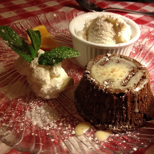 Molten Chocolate Cake @ the victor cafe