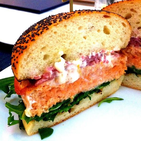 Salmon burger - Oceana, New York, NY