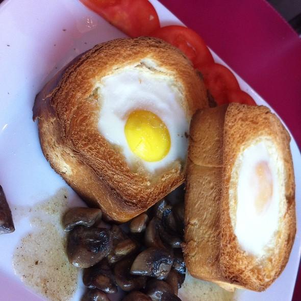 Baked Eggs On Toast @ The Chocolate Bar