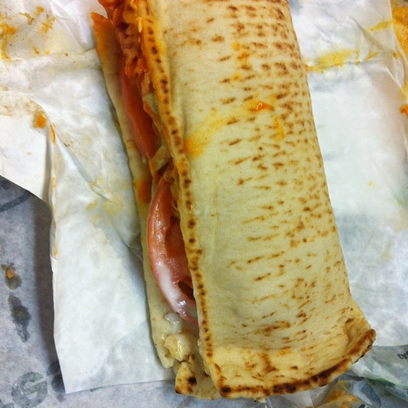 Buffalo Chicken Bacon Flatbread @ Subway