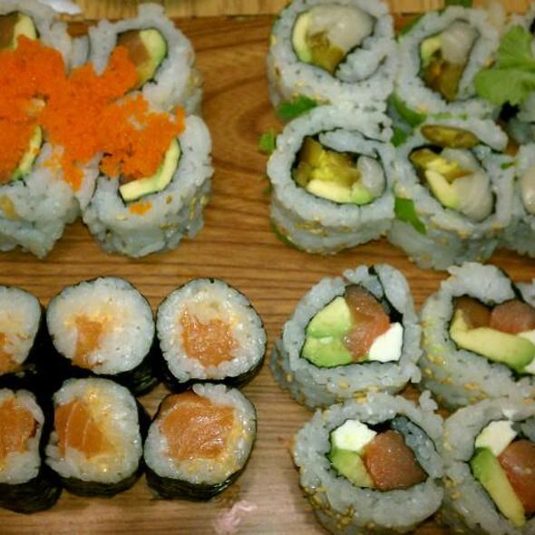 Spicy Salmon, Tropical, Philadelphia, And Moneterrey Roll  @ Noble Fish