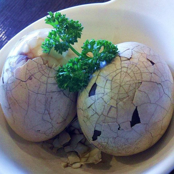 tea eggs @ Tea Bar and Organics