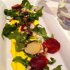 Grilled Octopus, Spanish Chorizo, Saffron Aiolii