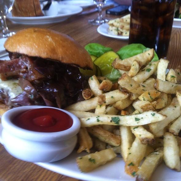 House Burger with Bacon & Bleu Cheese @ Ella Dining Room & Bar