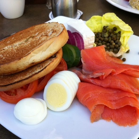 Bagel with Lox and Cream Cheese @ Tropics Bar & Grill