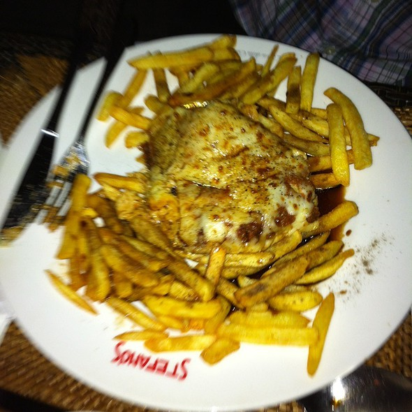 Lasagne With Chips @ Stephano's
