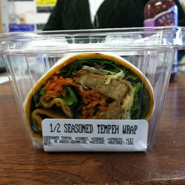 1/2 Seasoned Tempeh Wrap @ Foodworks II